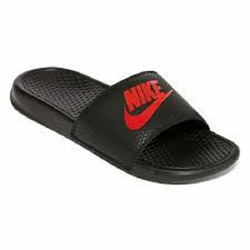 8204f23f22f1 Details about Nike Benassi JDI Solarsoft Mens Slide Sandals Black Red NWT  SALE