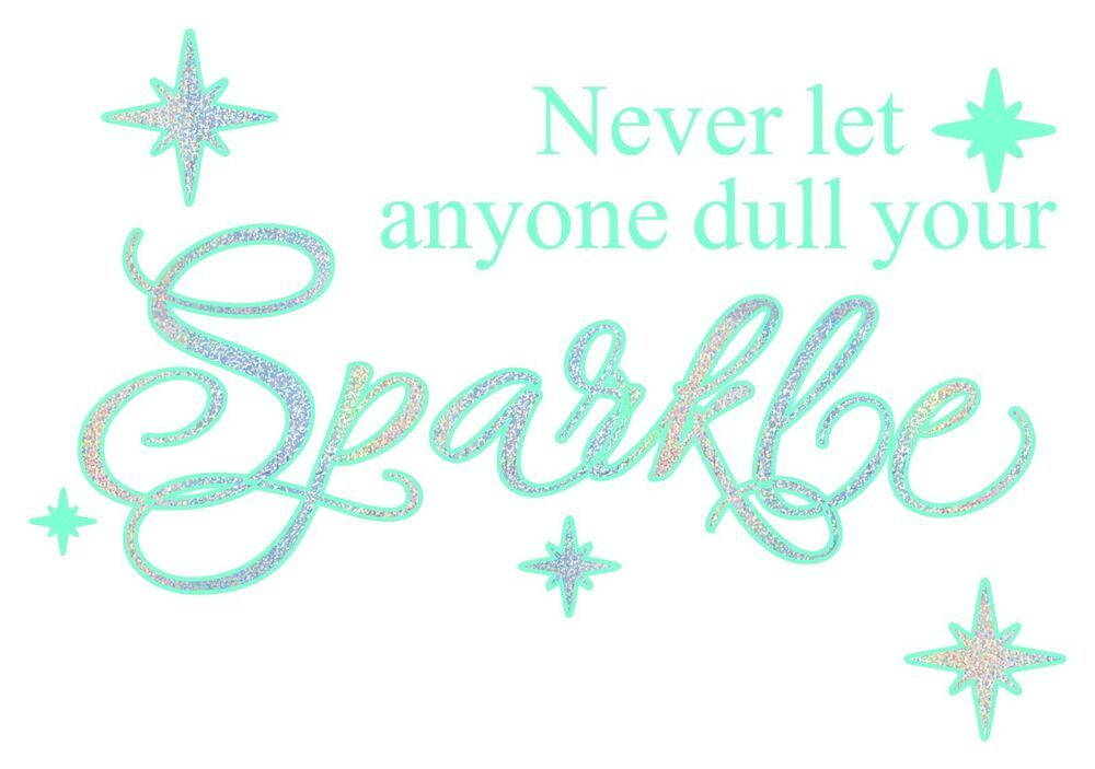 Never Let Anyone Dull Your Sparkle Glitter Wall Art Vinyl Fancy Decal 15 80 Ebay