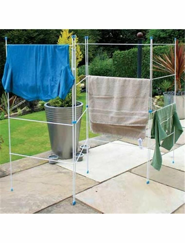 Outdoor Cloth Dryer ~ Folding gate clothes airer horse dryer fold rail