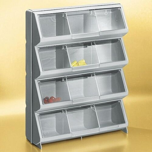 garage storage bins stack on clear view 12 bin organizer storage bins cubby 15732