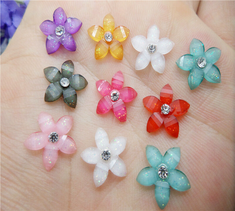 Wedding Flowers In Resin: NEW DIY 20pcs 12mm Resin Flowers Flatback Scrapbooking For