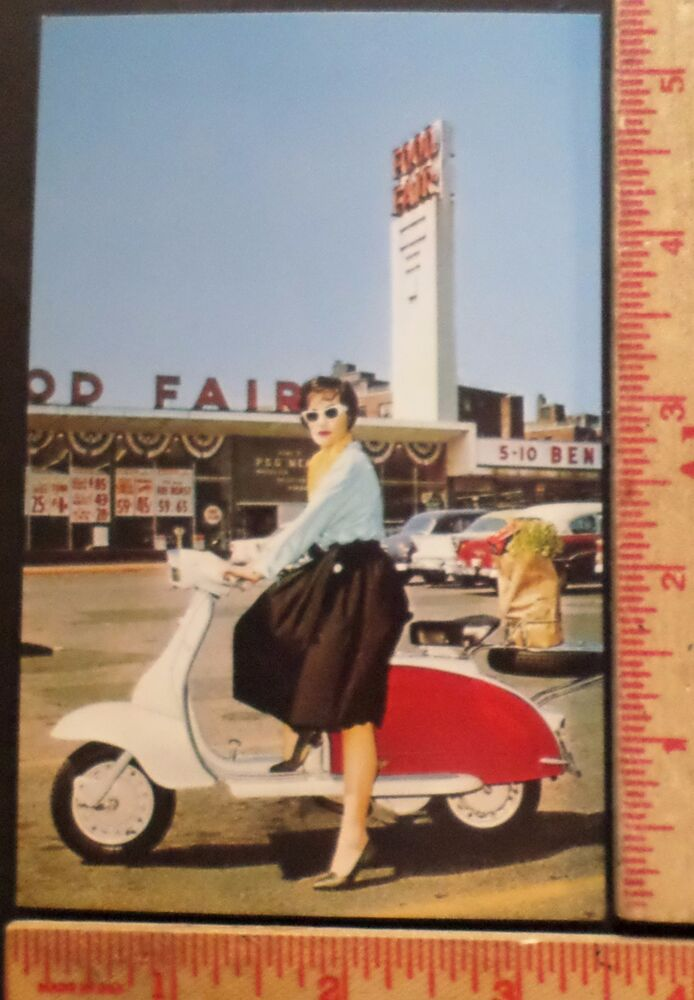 Vintage Lambretta Scooter postcard collectible old ...