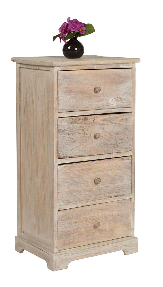 landhaus kommode flur bad schrank regal 42 x 80 cm braun shabby vintage stil neu ebay. Black Bedroom Furniture Sets. Home Design Ideas
