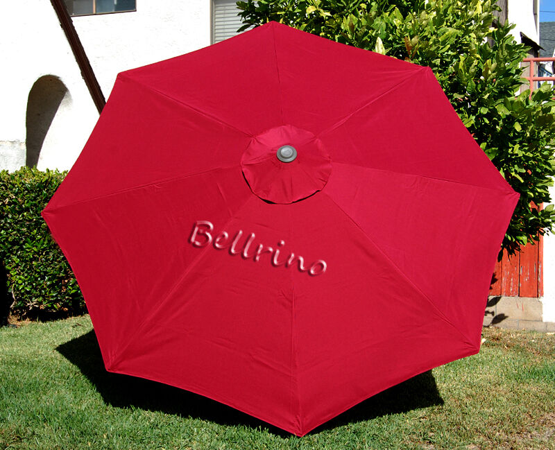 Umbrella Canopy 9 Ft 8 Ribs Burgundytop Patio Market