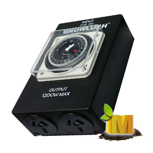 Industrial Grow Light: Industrial Dual Output Timer Box For LED HPS MH Grow