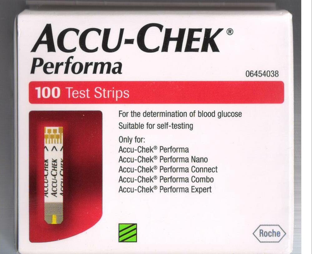 100 Test Strips For Accu Chek Performa Blood Glucose
