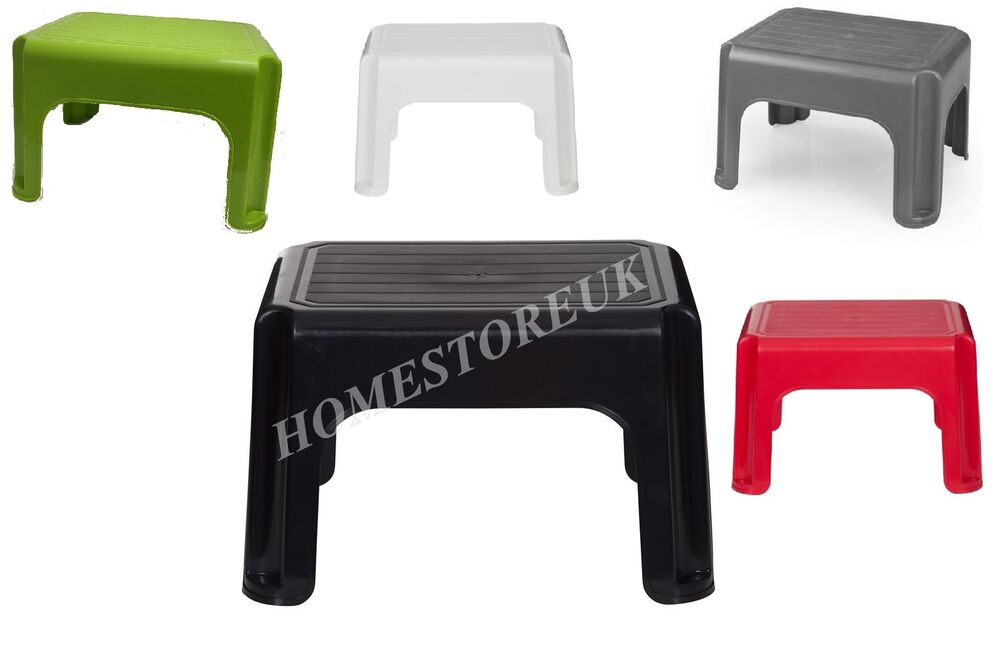 40cm Anti Slip Step Up Stool Plastic Seat Kid Kitchen Bath