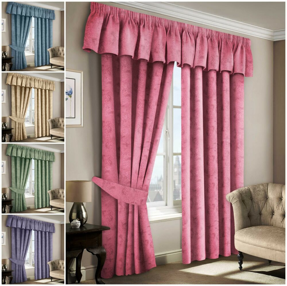 Plain 100% Cotton Curtains Thermal Fully Lined Light