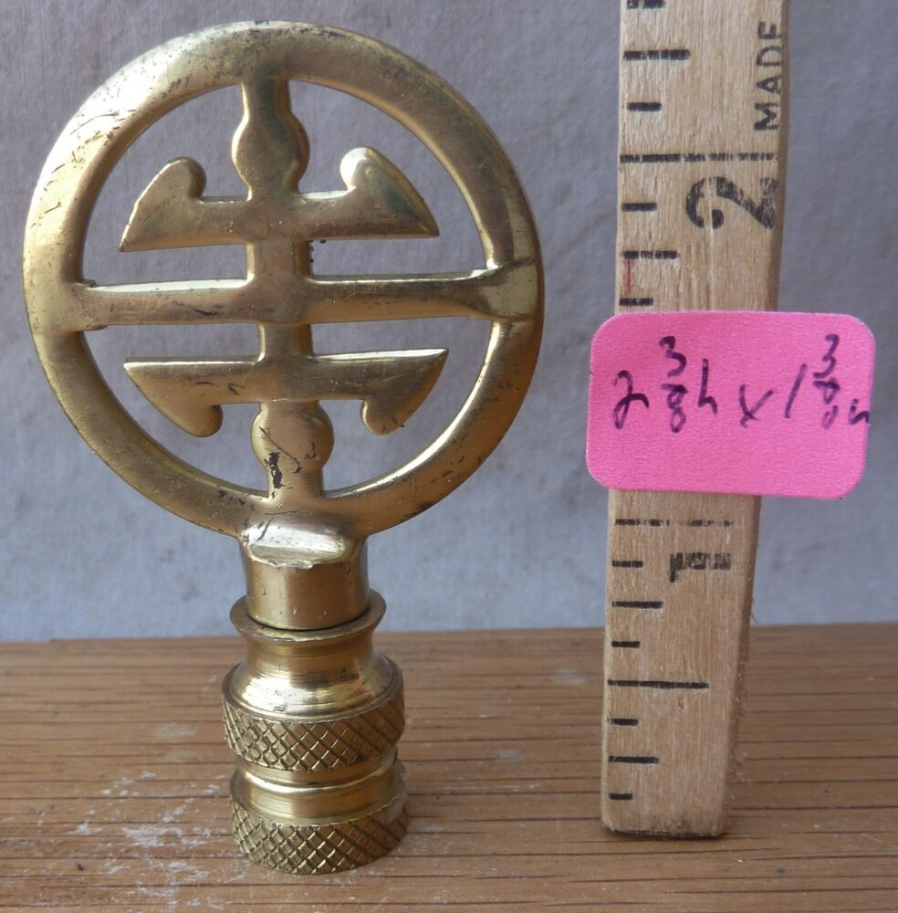 """Lamp Finial Cute Small Size Asian VINTAGE Solid Brass 2 3/8""""h X 1 3/8 W (Per Ea"""