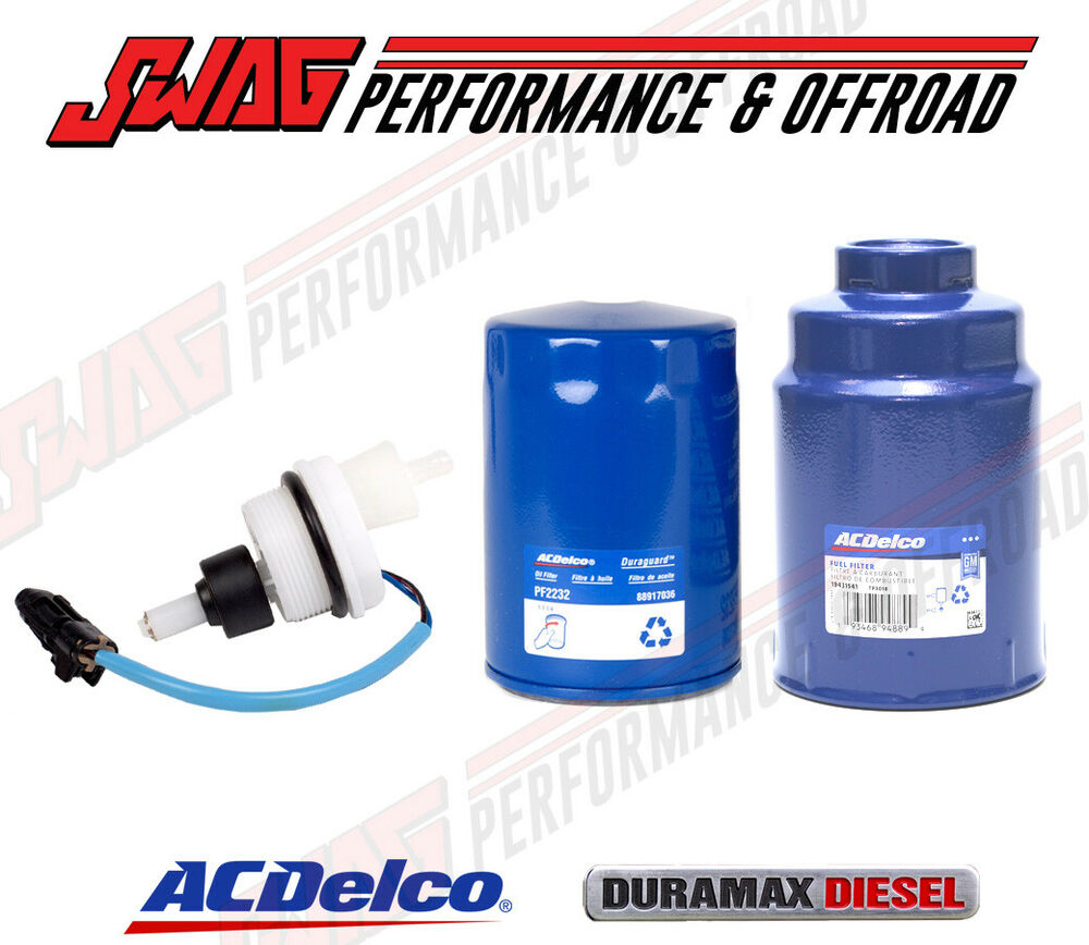 ACDelco OEM 6.6 6.6L Duramax Diesel Oil / Fuel Filter & Water-in-Fuel WIF  Sensor | eBay