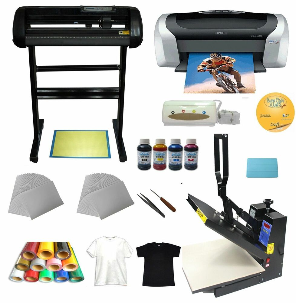 Heat Press 34 Quot Cutter Plotter Printer Ink Paper T Shirt