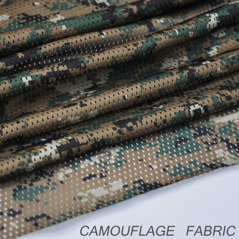 Digital woodland camouflage camo net cover army military for Fabric cloth material