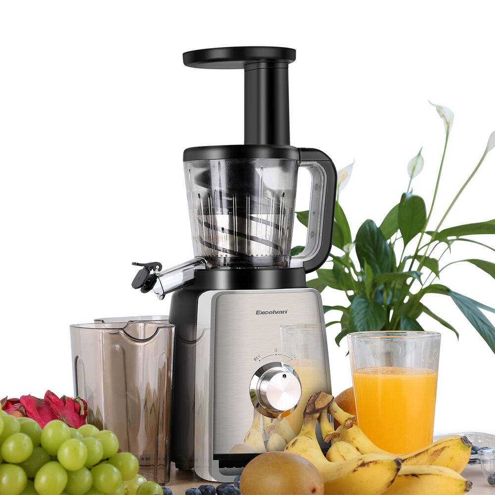Slow Juicer With Salad Maker : Slow Juicer - Natural Fruit Extraction Method Masticating Juice Maker Gold Press eBay