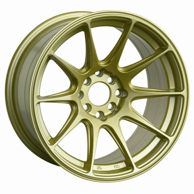 "18X9.75"" XXR 527 WHEELS 5X100/114.3 +20 GOLD RIMS FITS ..."