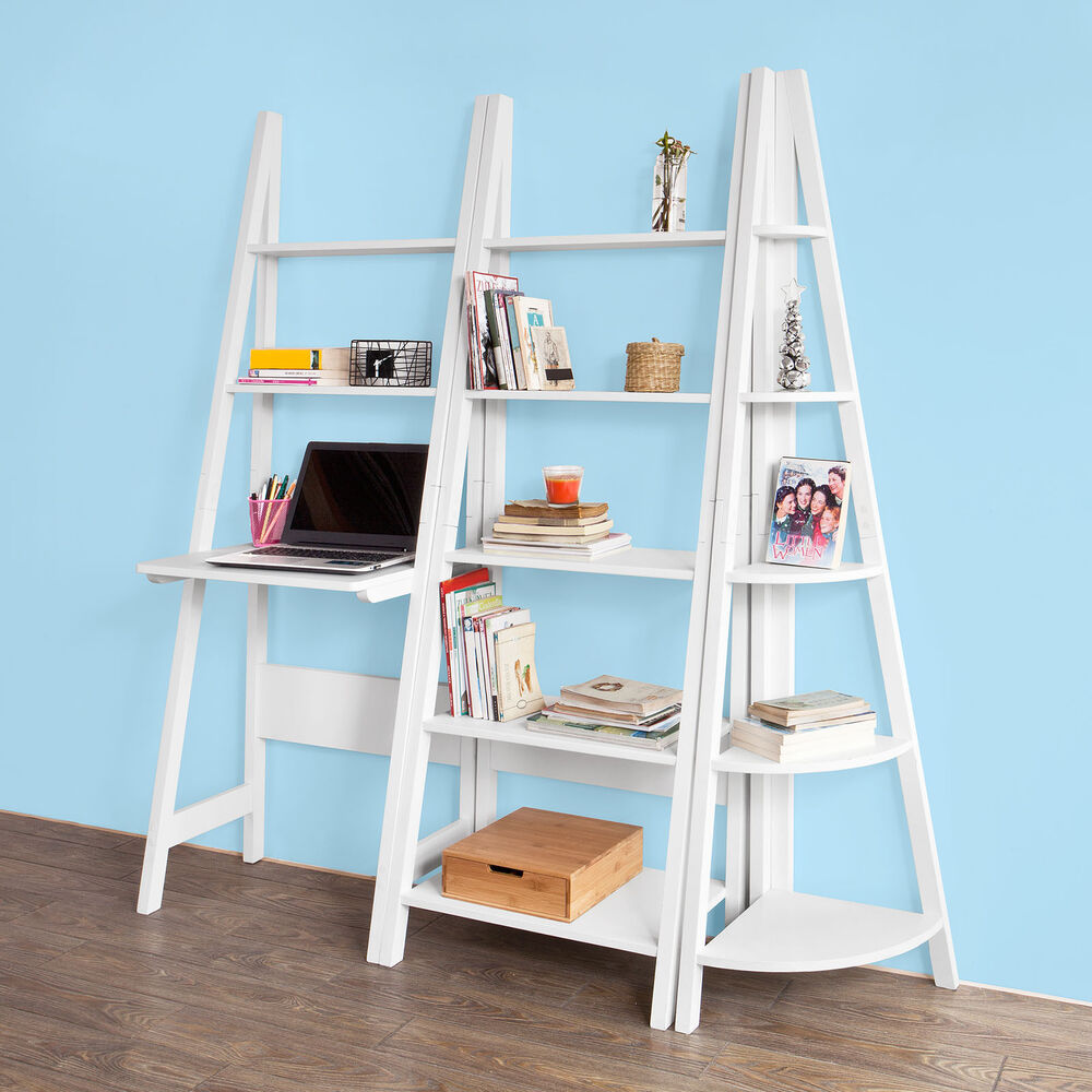 Sobuy 174 Ladder Style Bookcase Shelving Storage Display