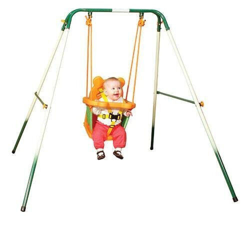 Sports Power Indoor Outdoor Toddler Folding Swing Set