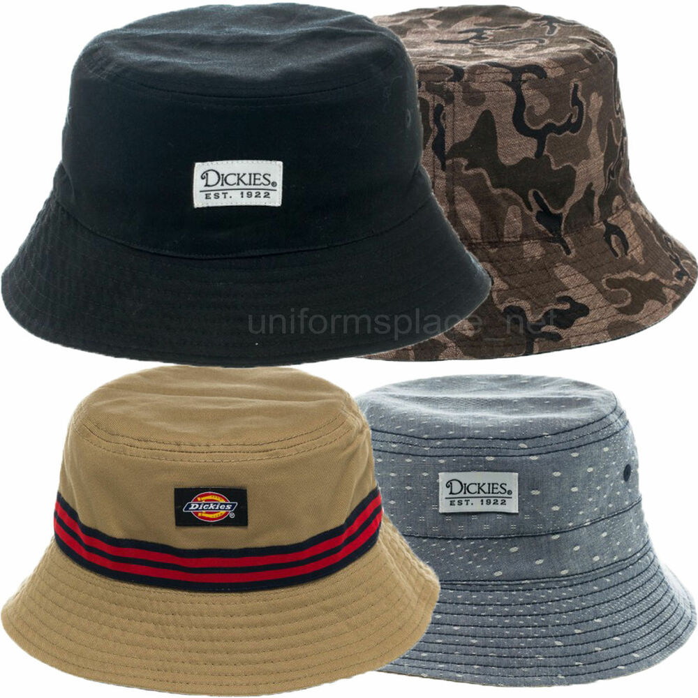 62cbbca55ae Dickies Bucket Hats Reversible Fashion Cotton Fishing Hat S M L XL Camo  Chambray