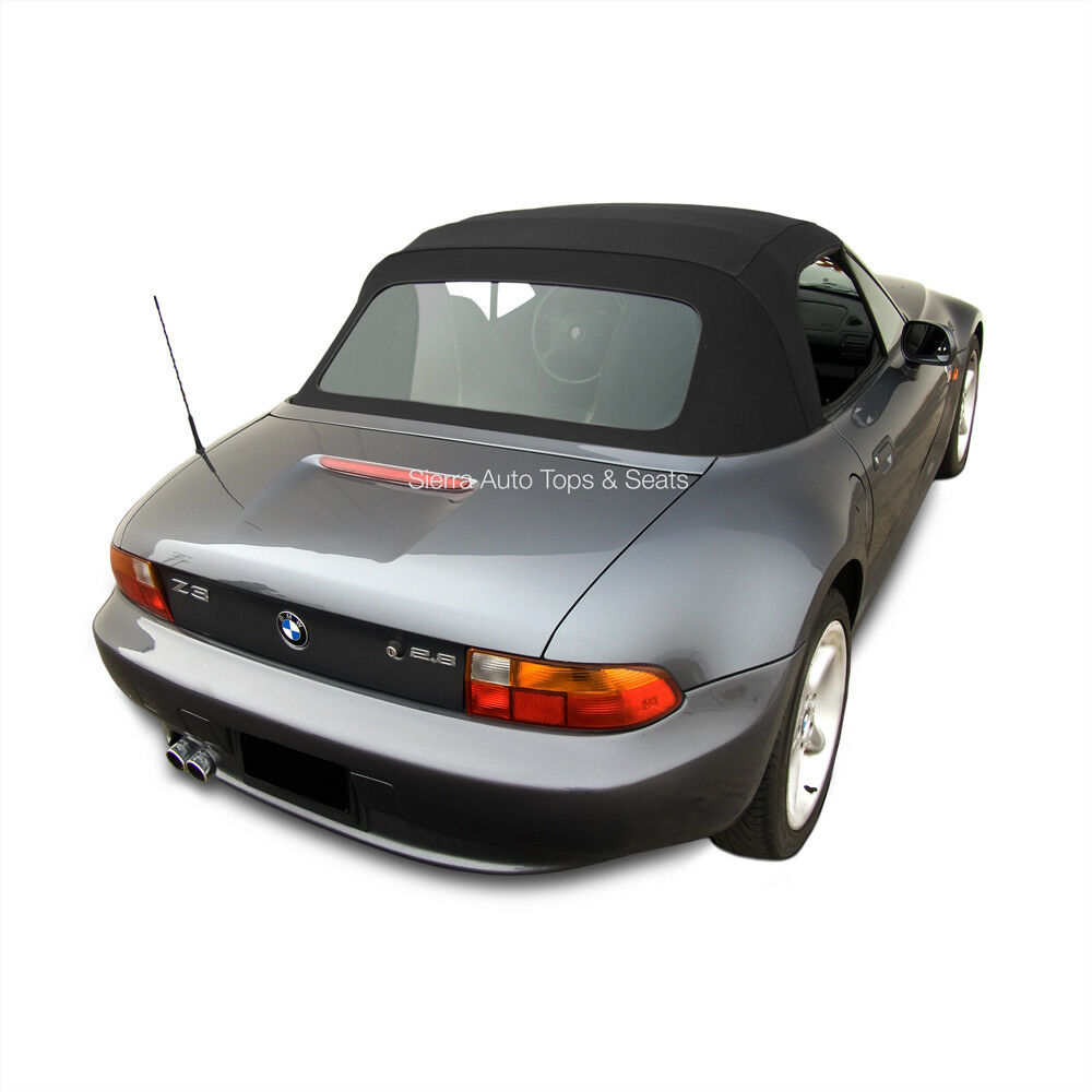 Bmw Z3 Convertible Top In Black Twillfast Ii Cloth With Plastic Window Ebay
