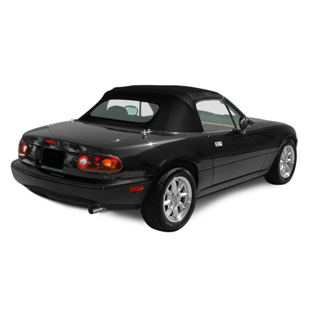 Details About Mazda Miata Convertible Top Plastic Window Factory Style Black