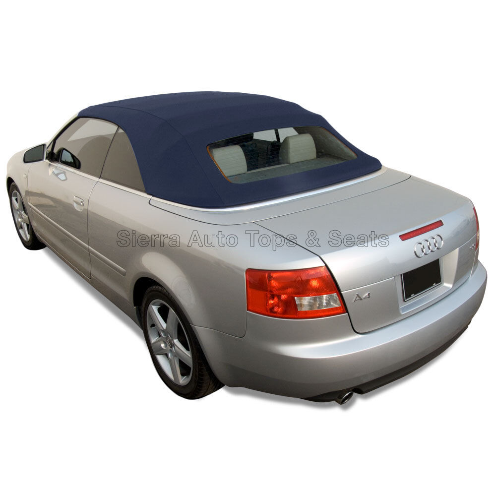 Audi A4 Convertible Top In Blue Twillfast RPC Cloth With