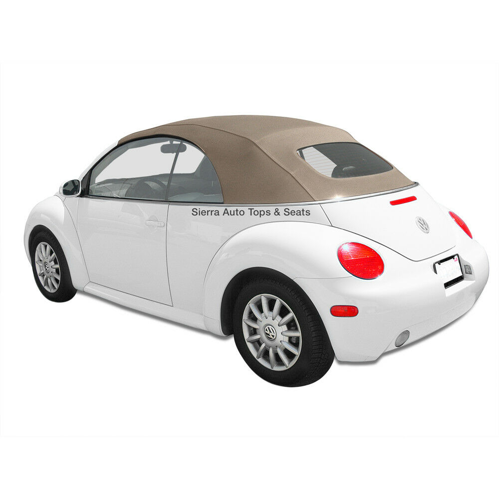 vw beetle 2003 2010 convertible top in cream german a5 with glass window ebay. Black Bedroom Furniture Sets. Home Design Ideas