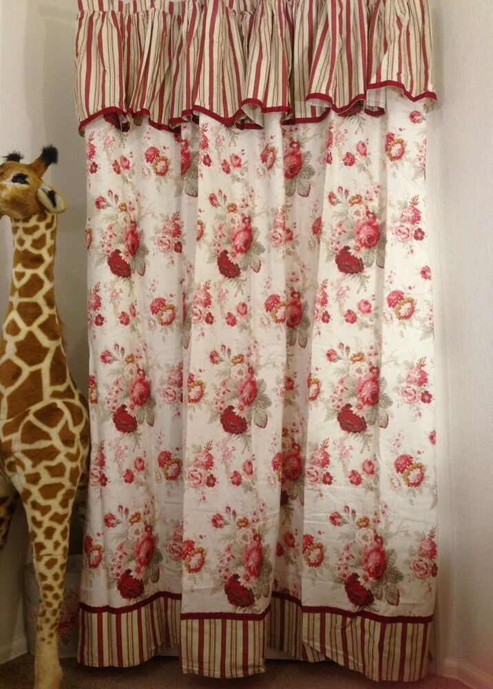 Waverly Norfolk Rose Garden 100 Cotton Shabby Chic Fabric Shower ...