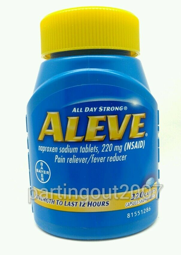 Bayer Aleve Value Size 320 Tablet Naproxen Sodium Pain Fever Reducer