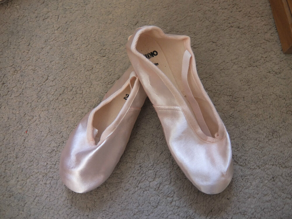 pink satin split sole ballet shoes mixed sizes and