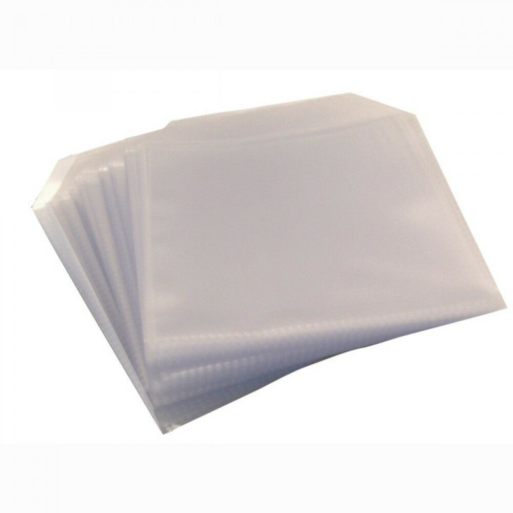 100 Cd Dvd Disc Clear Cover Cases Plastic 120 Micron