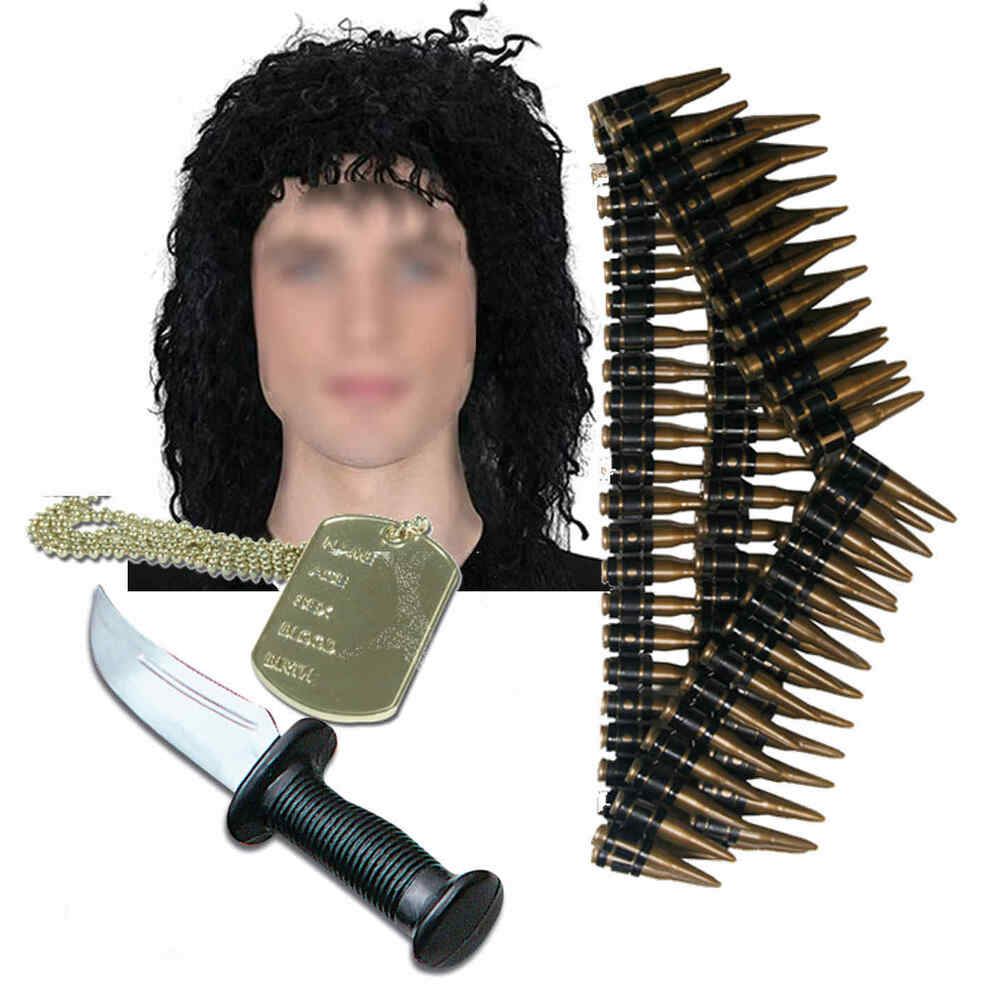 army mens mexican 80s solider fancy dress costume knife