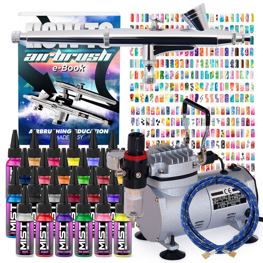 Complete Nail Art Airbrush Kit