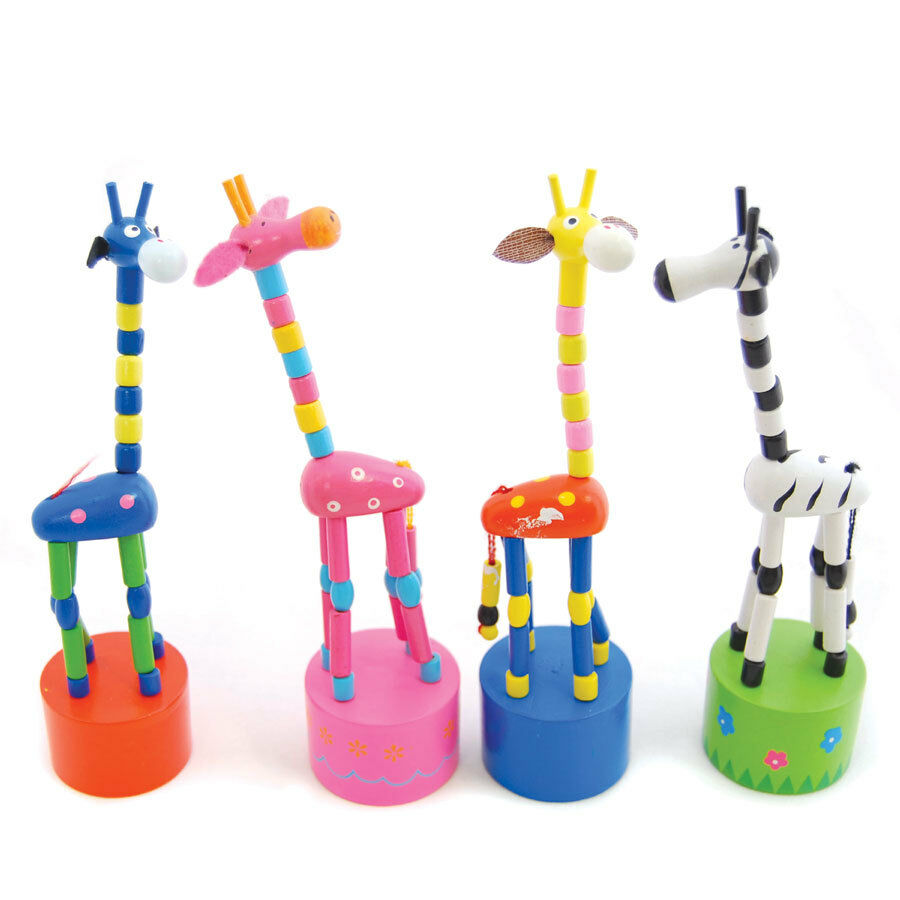 Toys For 4 And Up : New traditional push up toy giraffe ebay