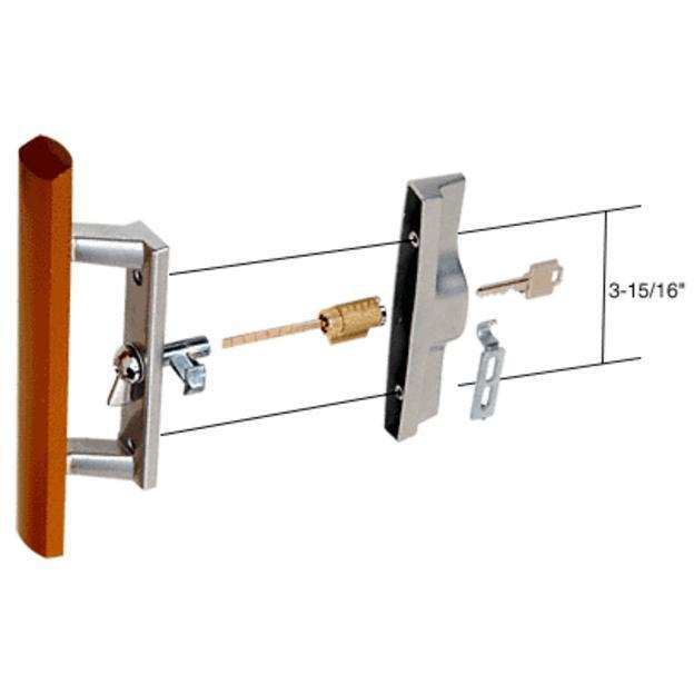 Wood Aluminum Keyed Internal Lock Sliding Glass Door