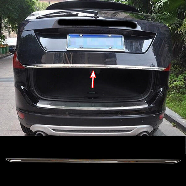 fit for 14 volvo xc60 chrome rear trunk boot tailgate door cover trim molding ebay. Black Bedroom Furniture Sets. Home Design Ideas