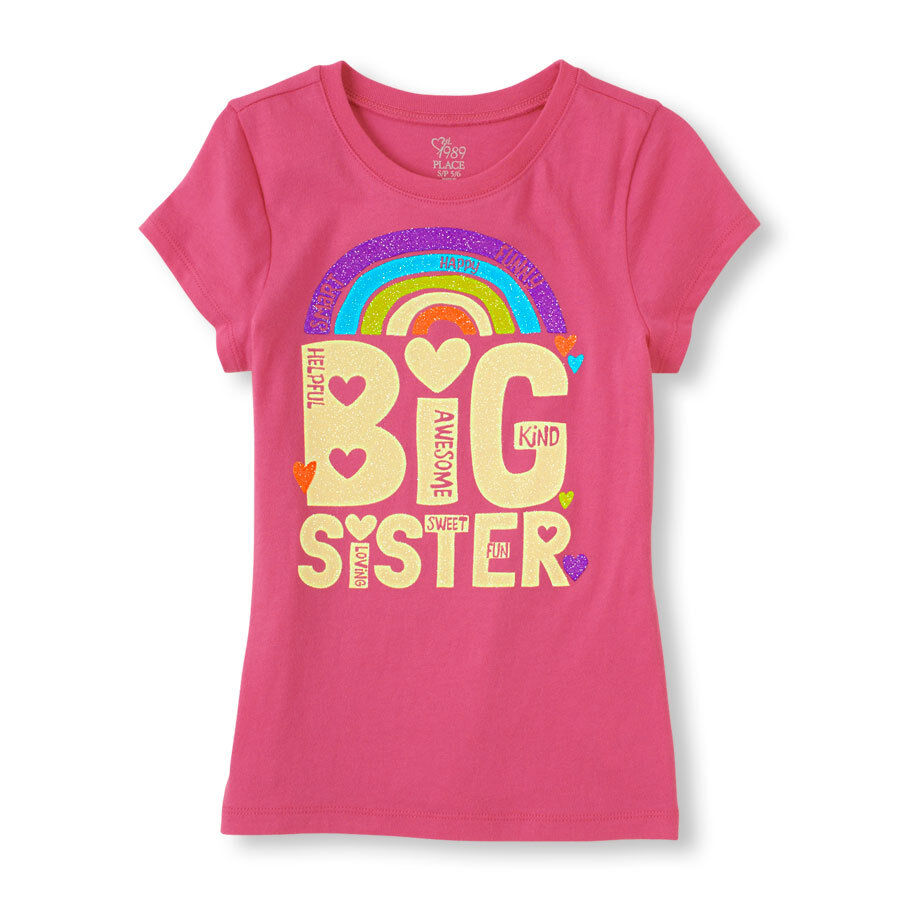New big sister girls graphic shirt 4 4t 5 6 7 8 10 12 for Places to sell t shirts