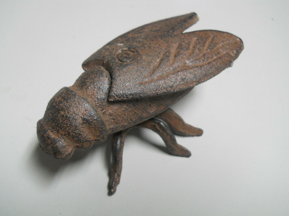 3 Cast Iron Garden Bugs LARGE HORSE FLY Flower Insects ...