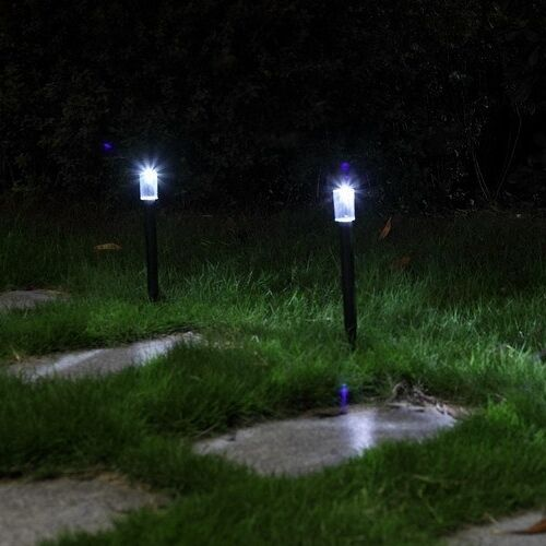 Solar led path night light control outdoor lawn garden yard landscape spot lamp ebay - Night yard landscaping with outdoor lights ...