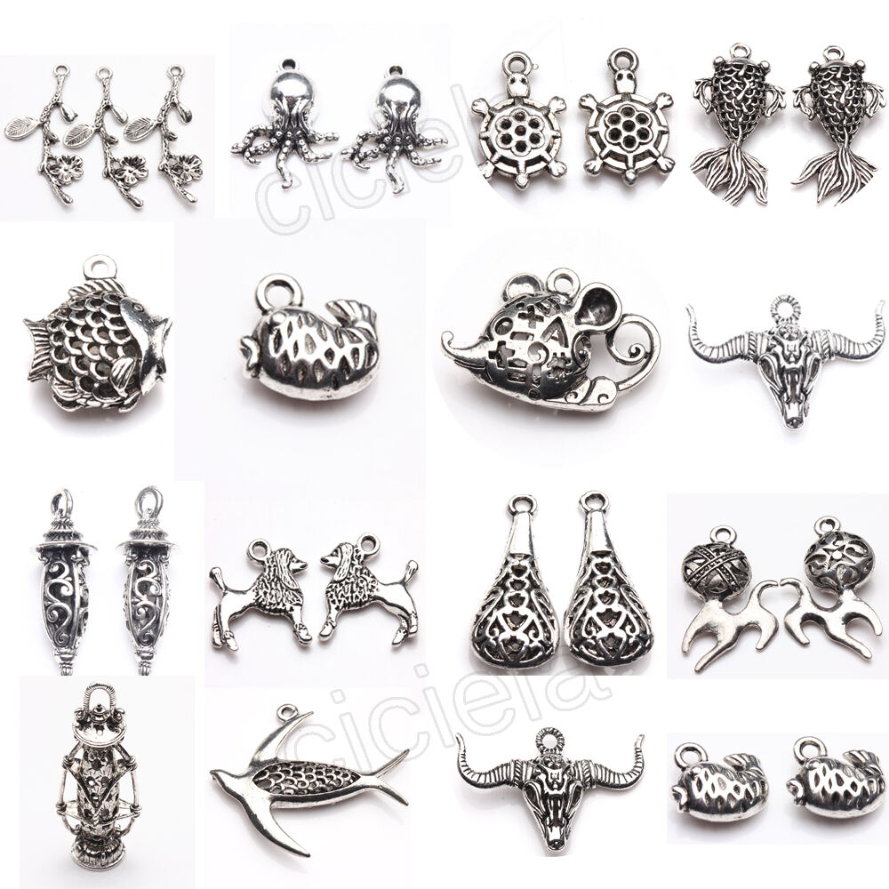 wholesale lots bulk lots tibetan silver mix pendants