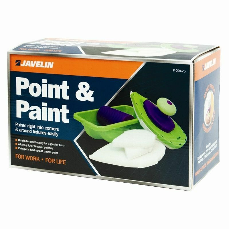 Easy paint pro 4 pads roller n tray and painting point tv for Paint pros