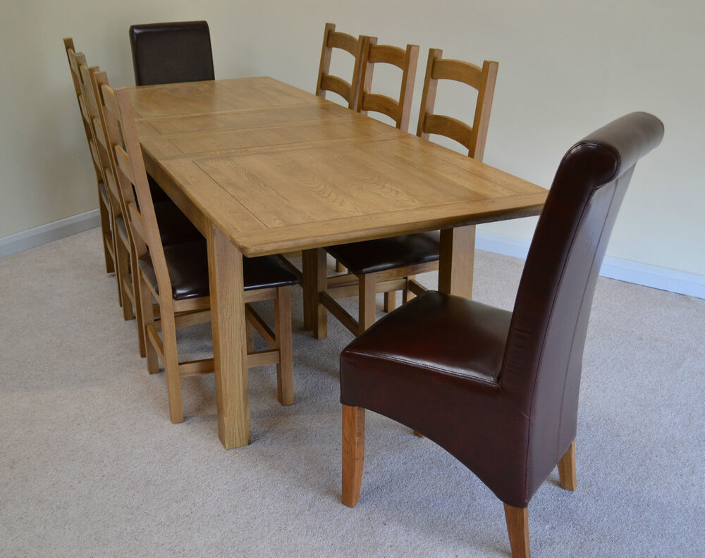 large french farmhouse oak double extending dining table seats 6 8 ebay. Black Bedroom Furniture Sets. Home Design Ideas