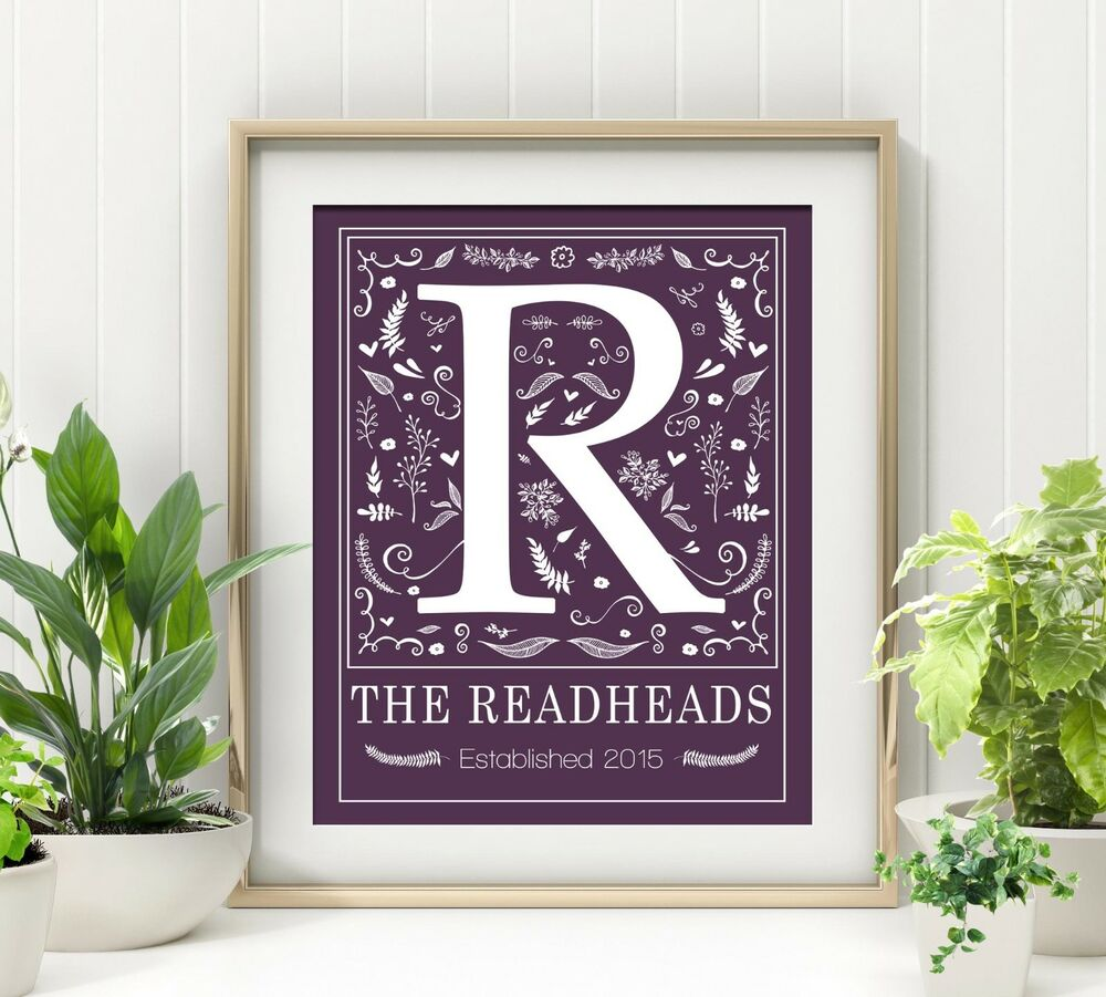 Personalised Home Is Where New Home Gift Print By: Personalised Family Name Print Wedding Gift