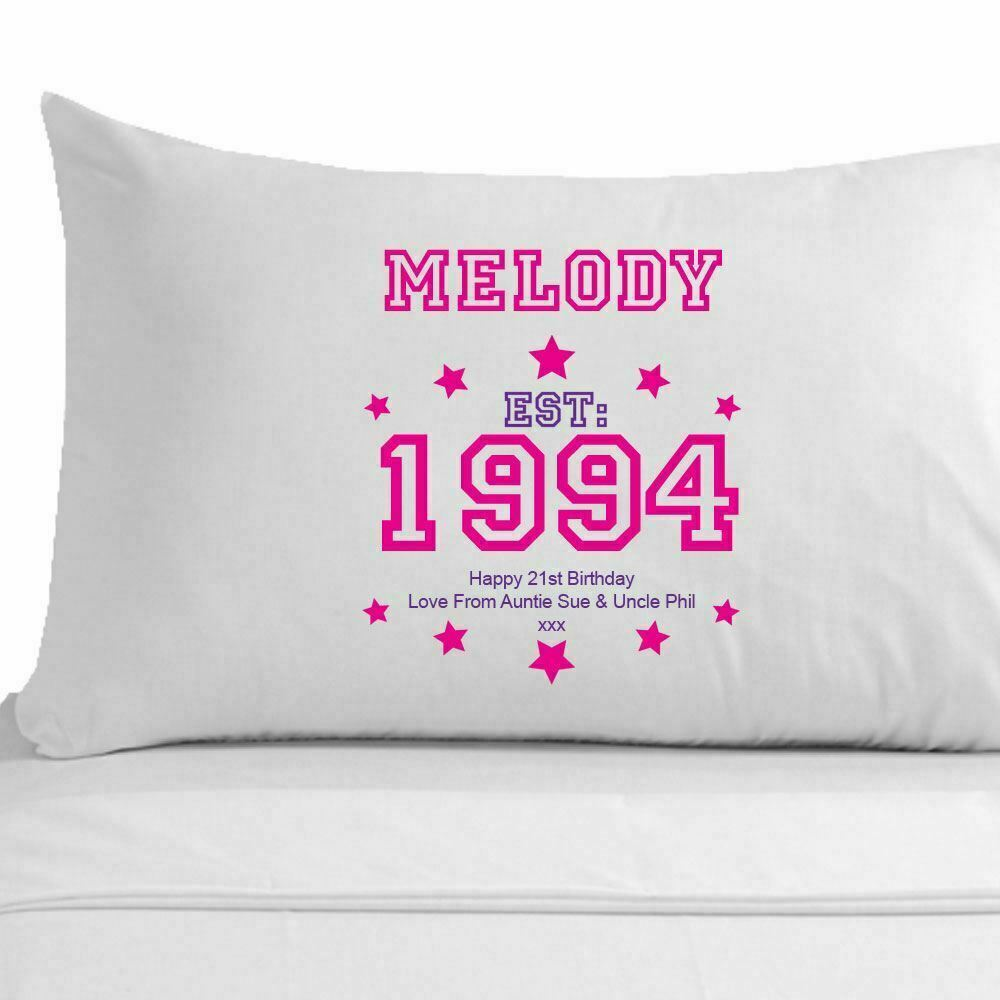 Details About Personalised 21st Birthday Pillowcase Best Friend Sister Girl Gift Ideas