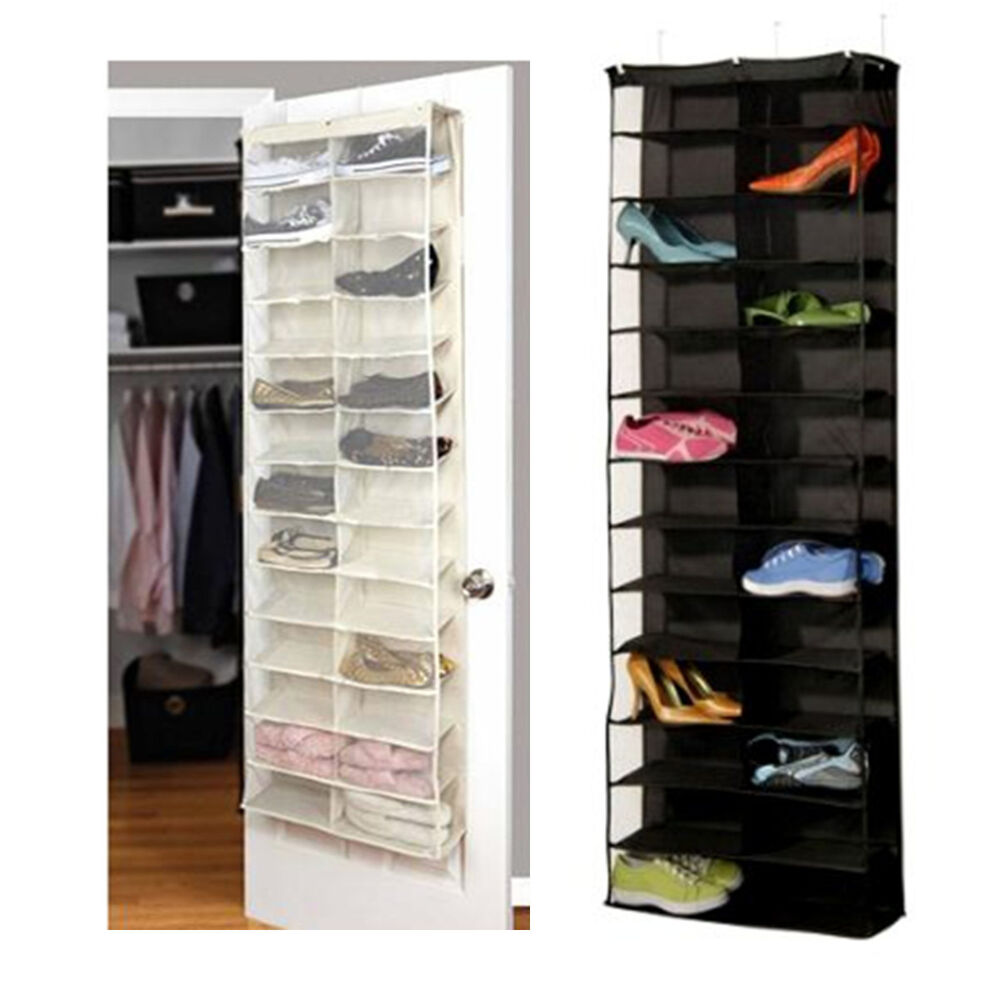 26 Pocket Shoe Rack Storage Organizer Holder Hook Folding