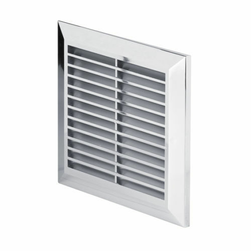 chrome ducting ventilation cover 100mm 4 fly screen. Black Bedroom Furniture Sets. Home Design Ideas