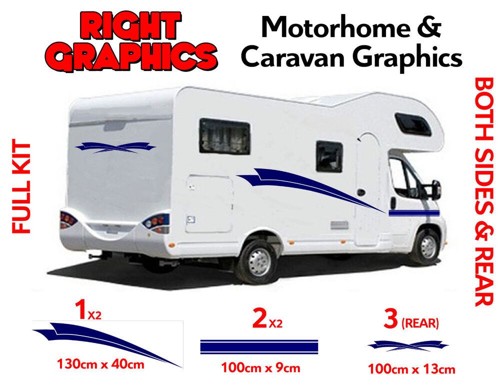 Motorhome vinyl stripes graphics stickers decals camper for Decals for rv mural