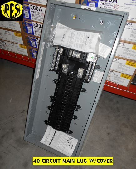 NEW SQUARE D QO140L200G W/COVER 200 AMP MLO SINGLE PHASE