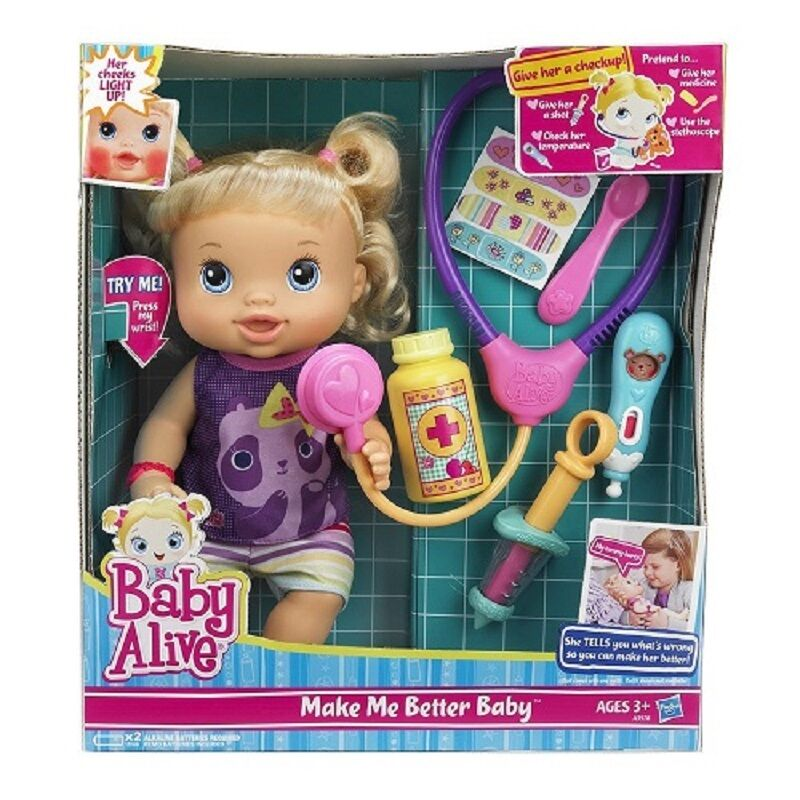 Super Cute Baby Alive Better Now Baby Doll W Play
