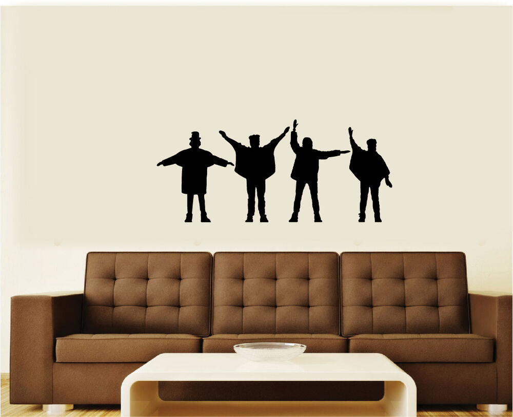 the beatles 2 help vinyl wall decal graphic sticker large 3 sizes ebay. Black Bedroom Furniture Sets. Home Design Ideas