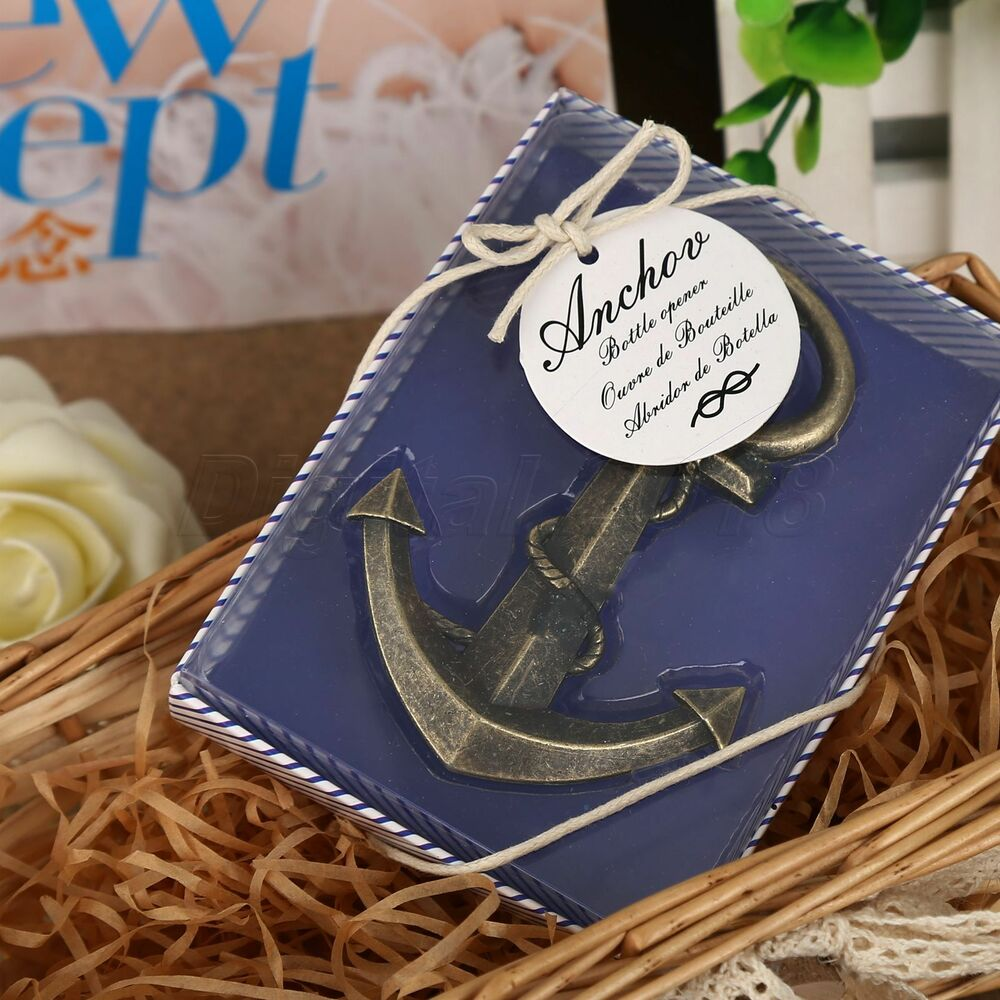 Bridal Party Wedding Gifts: Anchor Nautical Sea Themed Bottle Opener Bridal Shower