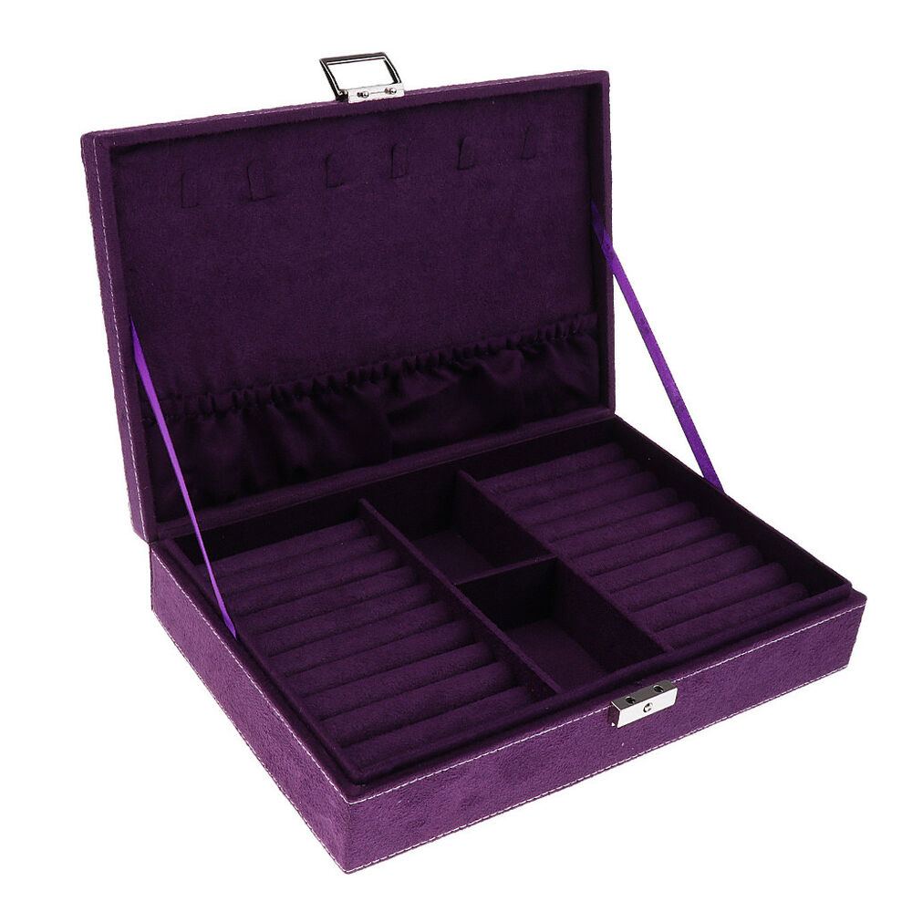 Portable ring cufflinks jewelry display storage box for Ring case